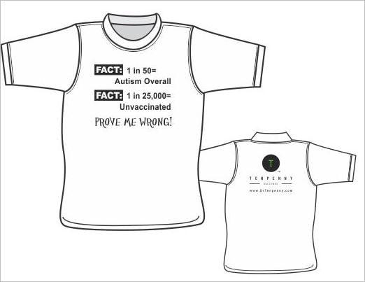 Sherri Tenpenny tshirts autism fact