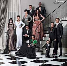 Kardashian family Christmas Card