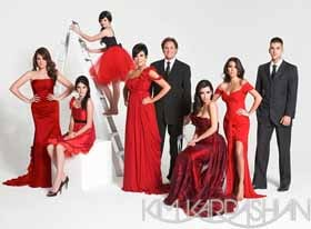 Kardashian family Christmas Card 2011