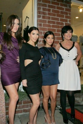 Khloe, Kim, Kourtney and Kris