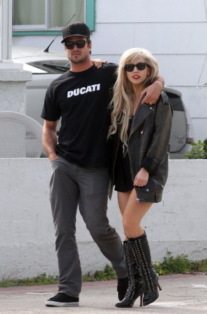Lady Gaga with Vampire Diaries actor Taylor Kinney