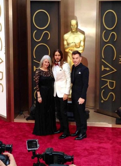 Jared Leto and his family