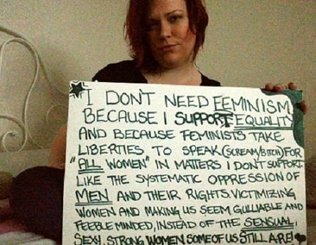 Women should not have equal rights to a man?