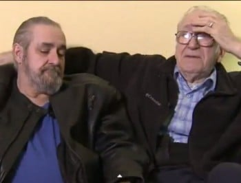SURPRISE: A father meets his 61-year-old son for the first time.
