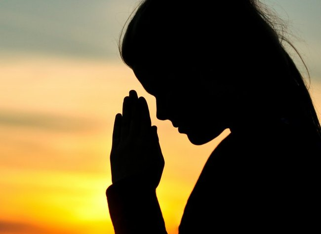 The gallery for --> Woman Praying Silhouette