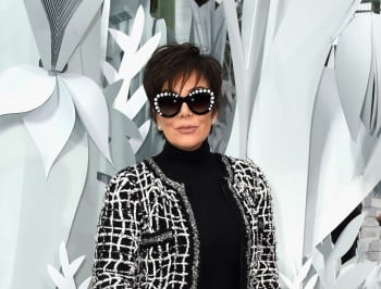 59 y/o Kris Jenner goes to Paris Fashion Week sans pants. Rocks it.