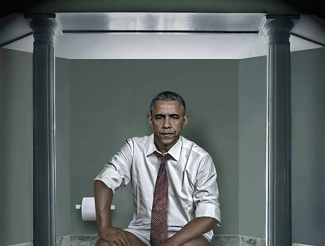 World leaders on the toilet.