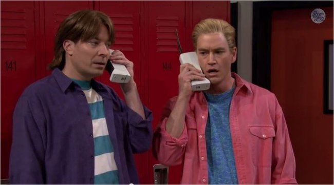 Saved by the Bell - Jimmy and Zach and phones