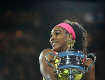Serena Williams claims sixth Australian Open victory. Photo: ABC.