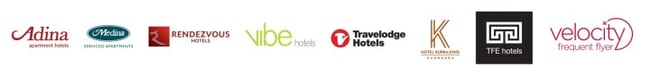 TFE Hotels logos graphic