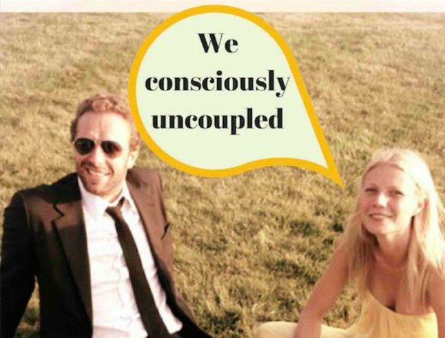 "You're better off ""consciously uncoupled"", than staying together for the kids."