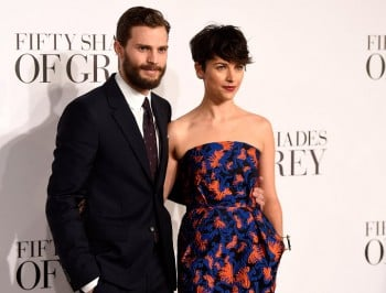 Jaimie Dornan and his wife Amelia at the London premiere.