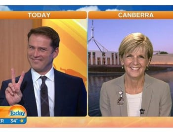WATCH: Julie Bishop just dramatically acted out an emoji.