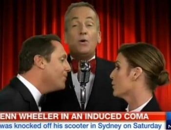 TV and radio presenter Glenn Wheeler is in an induced coma.