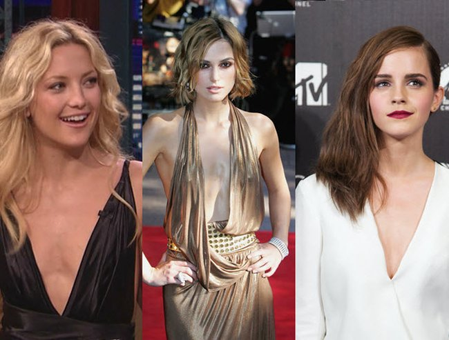 celebrities with small boobs