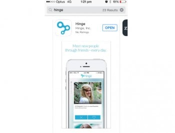 Hinge launches in Sydney