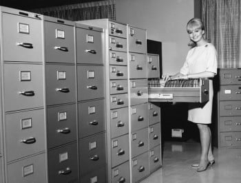 Retro Organised_Filing cabinet lady