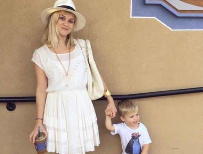 Reese Witherspoon and her son