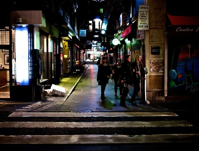 Street at night feature