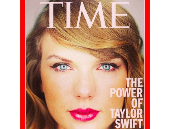 Taylor Swift on the cover of TIME.