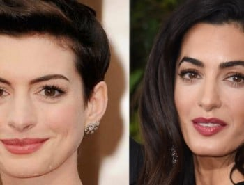 8 celebrity dopplegangers more alike than Amal Clooney and Anne Hathaway.