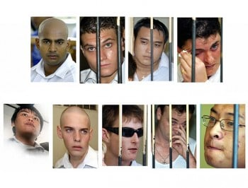 Where are the other seven members of the Bali Nine now?