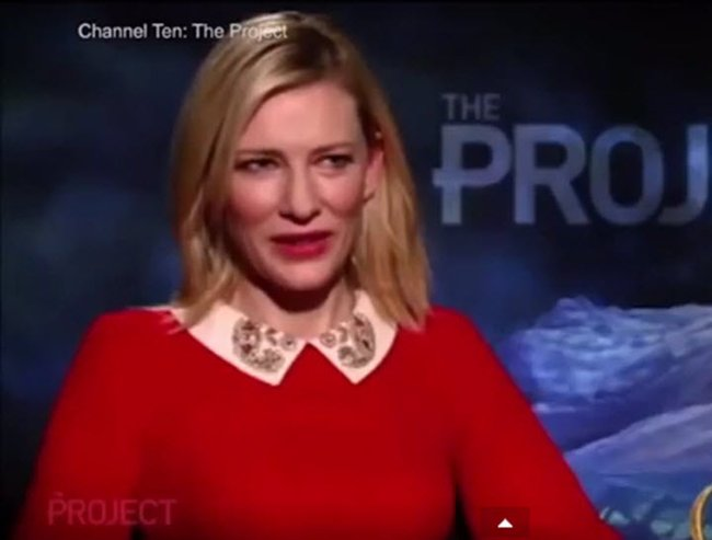 cate blanchett interview on the project
