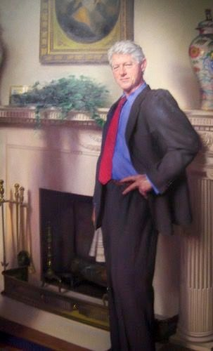Bill Clinton S Portrait Photobombed By Monica Lewinsky Dress