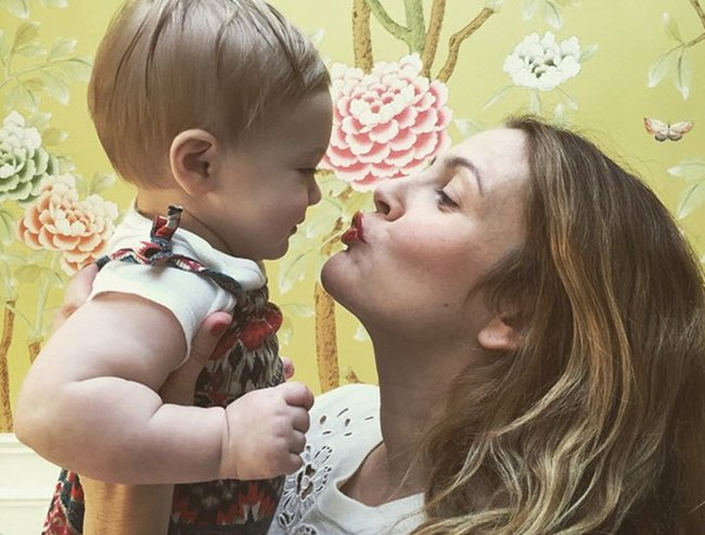 drew barrymore on post-baby body