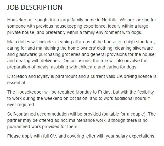 Kate Middleton Looking For Housekeeper Quit Your Jobs