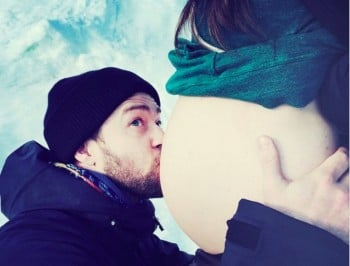The first photo of Justin Timberlake and Jessica Biel