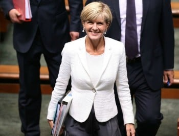 Julie Bishop chose to wear a black headscarf in Iran - and everyone has a view.