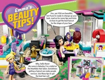 lego gives beauty advice