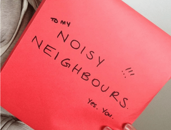 how to write a letter to noisy neighbours