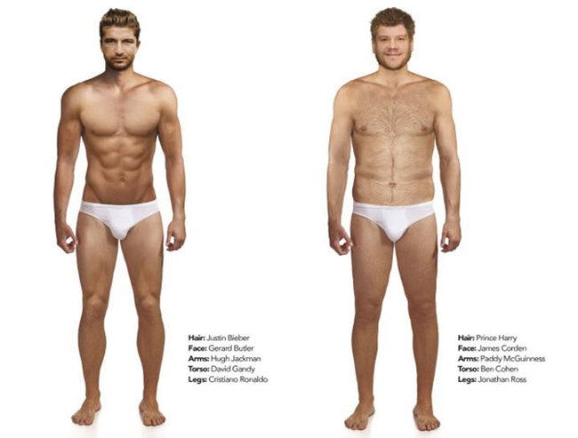 Men and women were asked to design the perfect man. Very different results.