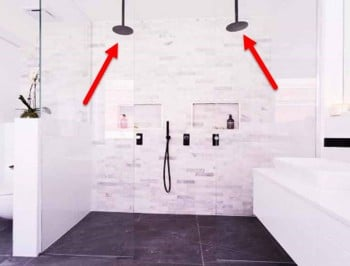 What the eff is up with the double shower heads on The Block?