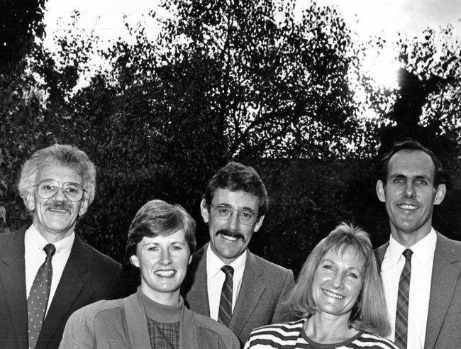 Five independents elected to Tasmania Parliament in 1989, prior to the formation of Tasmanian Green Party. Photo supplied