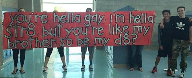 straight teen asks gay friend to prom