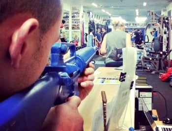 A Melbourne gym is teaching its members how to use guns.