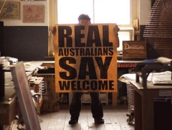 Real Australians Say Welcome - the message being shared by talented artists across Australia.