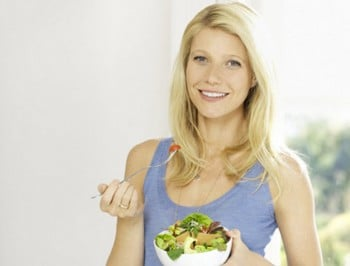 Gwyneth Paltrow cheats on her challenge to live on $29 per week. Grades herself a generous C-