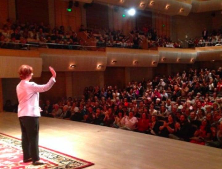 Julia Gillard on stage