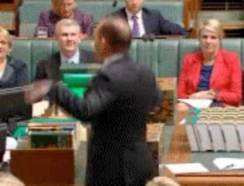 In other news... Tony Abbott danced like a chicken in parliament.