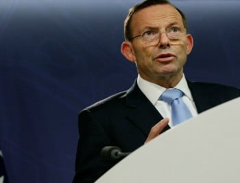 Australian Prime Minister Tony Abbott addresses media following the death of Prime Minister Malcolm Fraser on March 20, 2015 in Sydney, Australia. Australia's 22nd Prime Minister Malcolm Fraser, died today at the age of 84. Prime Minister Fraser was in office from 1975 - 1983.