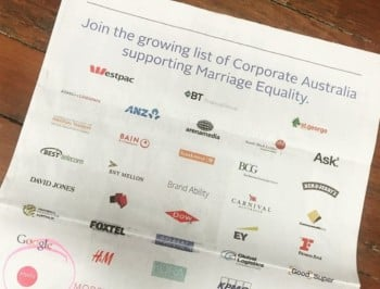 corporate support for marriage equality feature