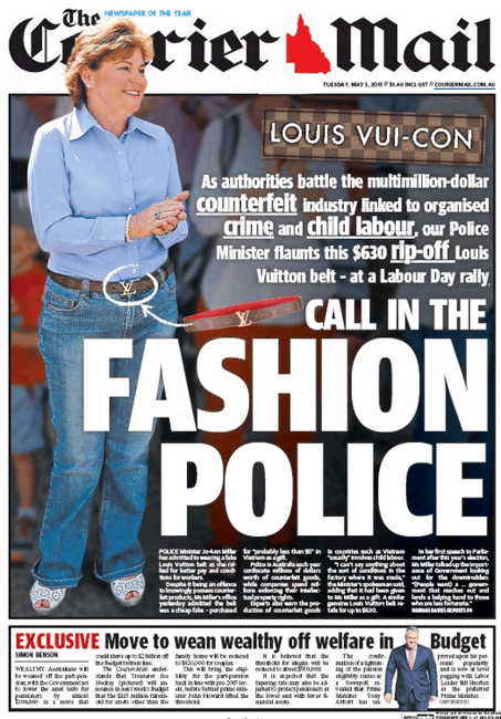 courier mail front page