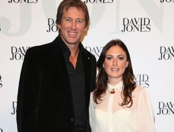 Glenn McGrath and Sarah Leonardi have some very happy news.