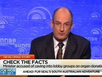"""Get a backbone!"" Kochie resigns from organ donation council on air."