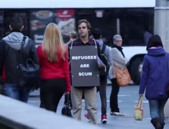 """Refugees are scum"" social experiment is actually marvellous."