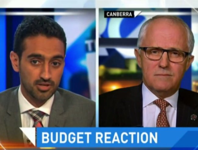 Waleed Aly grills Malcolm Turnbull over domestic violence funding.